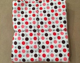 1 1/8 yards Flea Market Fancy Red Flower Dot by Denyse Schmidt