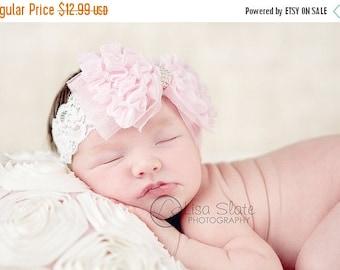 10% SALE Baby headband, newborn headband, adult headband, child headband and photography prop The single sprinkled- Ruffles and Lace headban