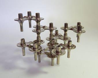 7 Modular Stoffi / Nagel Design Candleholders Orion Series mid-Century Modern 1960s