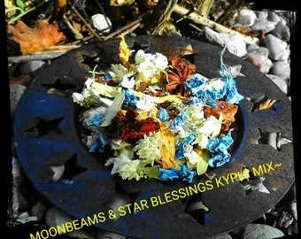 Moonbeams and Star Blessings Kyphi  Incense Blend