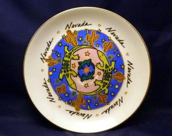 Vintage Nevada Souvenir Plate, 1970s