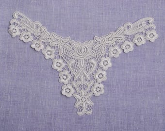 1 pc x 24cm x 19cm Venice Lace Applique Couture Front Piece