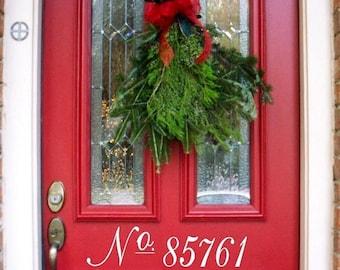 20% OFF Custom  door house numbers  -Vinyl Lettering wall words graphics Home decor itswritteninvinyl