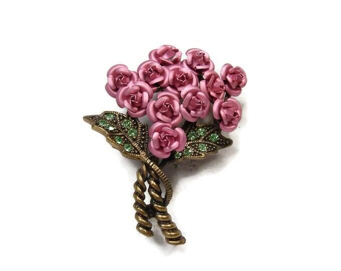 Rose Bouquet Brooch By Avon