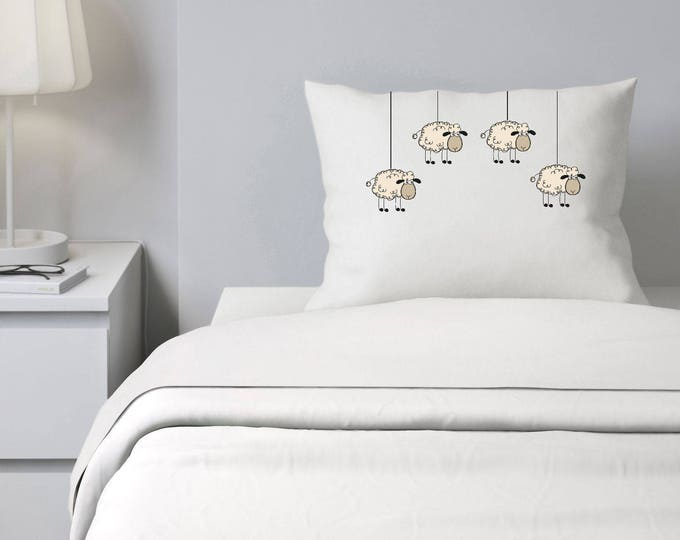 Custom Pillowcase, Counting Sheep Pillowcase,Cant Sleep, Personalized Pillowcase