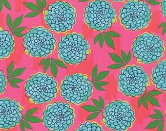 ON SALE Moda Fabric GOOD Karma by Stephanie Ryan 1/2 Yard 7211-14 Pink Crush Floral