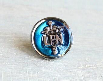 sky blue LPN pin, nursing pin, licensed practical nurse, tie tack, graduation gift, nurse gift, nurse graduation, lpn graduation, lapel pin