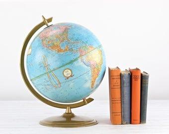 Vintage Globe Globe Vintage 1970's Globe Cram's Imperial Globe Desktop Globe Tabletop Globe Old Globe Globe World Globe