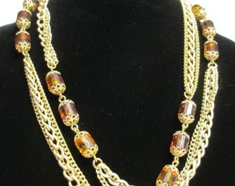 25% Off Sarah Coventry Golden Lanterns Long Necklace & Dangle Earrings Set