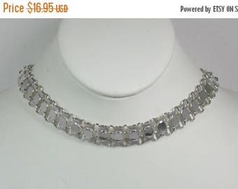 "25% Off Vintage Sarah  Coventry ""TRICIA"" Choker Necklace  - Signed Sarah Cov - Silver Plated - Mint"