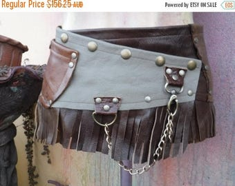 "20%OFF coachella festival burning man festival bohemian tribal gypsy fringed leather belt..34"" to 42"" waist or hips.."