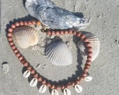 Cowrie Choker. Shells and...