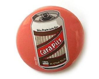 beer carapils button pins illustration