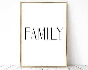 SALE -50% Family Digital Print Instant Art INSTANT DOWNLOAD Printable Wall Decor