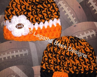 OSU Cowboys inspired baby hat  - photo prop - sports prop  - made to order