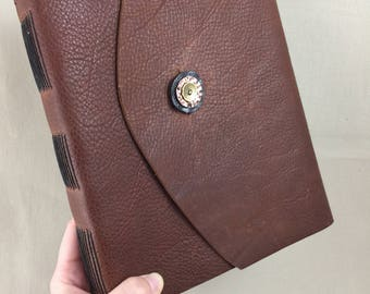 Large Leather Sketchbook in Brown