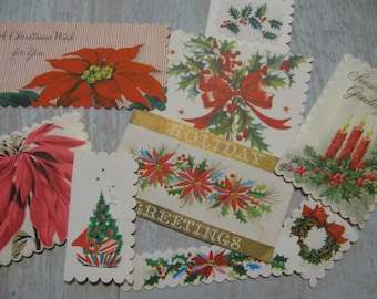 Charming VINTAGE 1940s-60s Christmas Gift Tags Set of 9 Handmade By  VINTAGE Repurposer ahead of her time, Meticulous & Sweet, See IDEAS!