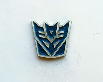 Hand Cast Transformer Decepticon Lapel Pin