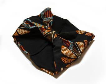 wool HEADBAND- wax fabric
