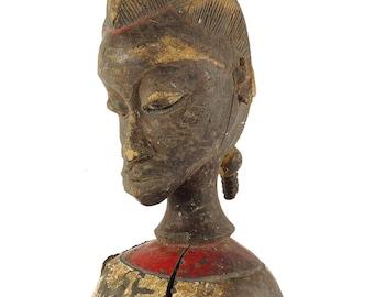 Baule Female Bust Cote D'Ivoire African Art 119573