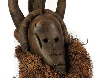Dan We Mask with Ornate Headdress African Art 104345