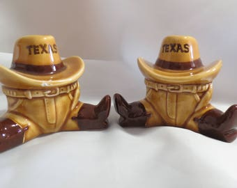 Funny Texas Cowboy Vintage Salt and Pepper Shakers