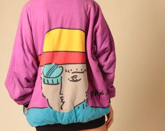 vintage PETER MAX rare reversible original authentic JACKET coat 1960s art icon rare collectible coat