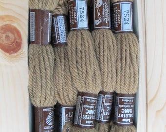 NIB Set of 10 Laine Colbert DMC 100% Virgin Wool Tapesserie Yarn Tapestry #7524