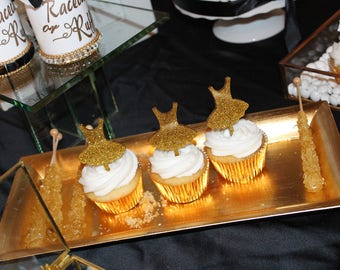 Ballerina/Tutu/Ruffles acrylic cupcake toppers