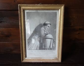 Antique French Print Pie VII Scuverain Pontife Catholic Religious framed glass fronted circa 1850's / English Shop