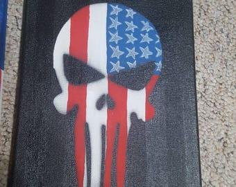 Punisher painting 8x10