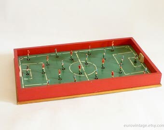 Vintage LARGE Table Soccer Board Game Wooden 60s 70s