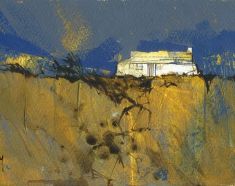 Original moorland cottage painting by Paul Bailey: Robust cottage