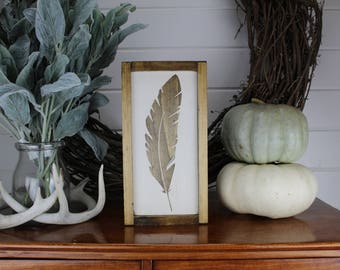 Feather - Psalm 91 - Wood Sign - for - Rustic - Farmhouse - Boho - Primitive Styles