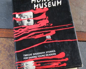 Vintage Horror Book // Alfred Hitchcock's Monster Museum // First Edition 1965 // Sci-Fi Book