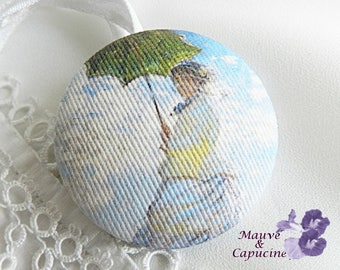 Monet Painted Print Fabric Button, 32 mm / 1.25 in