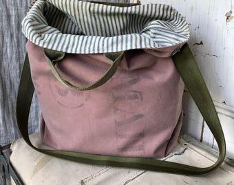 US MAIL - reconstructed vintage us mail sack messenger bag