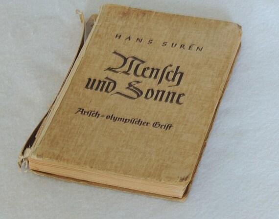 Rare Book.. Der Mensch und die Sonne (Man and Sunlight) 1936 Edition