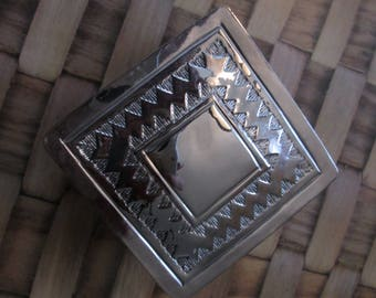Pewter embellished box