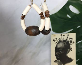 Akeju tribal earrings  African Wedding Ethnic Jewelry Tribal Jewelry Bohemian African Jewelry Ethnic Earrings Afrocentric Earrings African