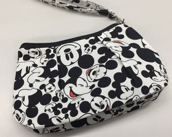 Mickey Mouse Double Pleated Wristlet