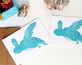 Sea Turtle Gifts, Notecards, and Thank You Cards - Set of Eight