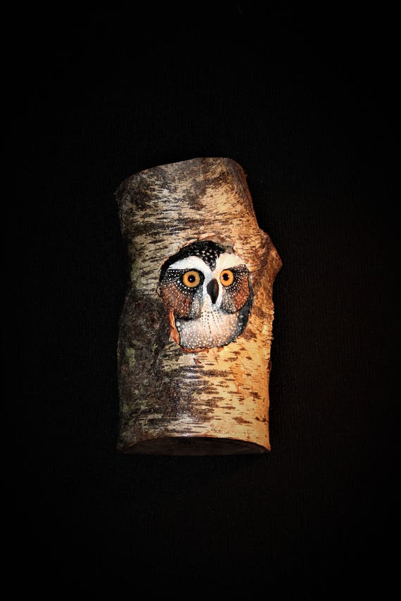 Wood Bird Carving - OOAK - Owl Art- Hand Carved and Sculpted Wall art Carving