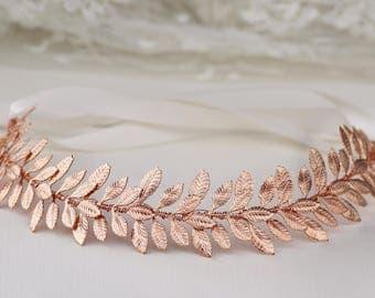 Rose gold tiara Etsy