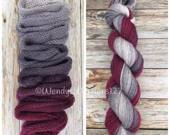 Hand Dyed Yarn, Gradient Yarn, Fingering Weight Yarn, MCN