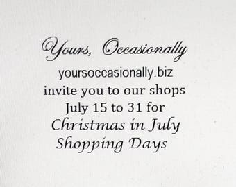 Christmas in July Shopping Days Sale Join us July 15 to 31 Gift Guide Women Men Children