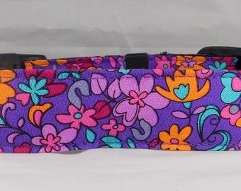 Dog Collar, Martingale Collar, Cat Collar - All Sizes  -  Garden Violet