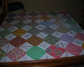 36 - Snowball Quilt Blocks Made With 30's reproduction Fabrics