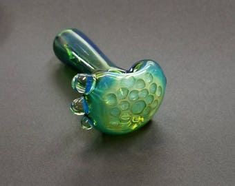 Silver Fumed Honeycomb Pipe ~ hand blown by Ehi Spalding