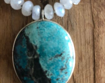 Moonstone and Turquoise Necklace